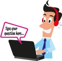 Webinar  - man typing on computer